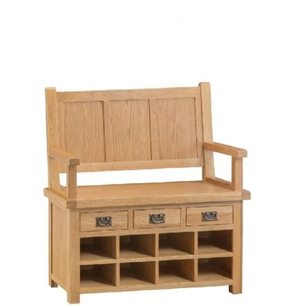 Oslo Oak Monks Bench